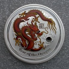 Australie dragon, red,  2012 bullion zilver