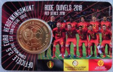 Belgie 2,50 euro 2018 coincard rode duivels (nl) 2 1/2 euro diables rouges