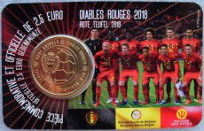 Belgie 2,50 euro 2018 coincard diables rouges (fr) 2 1/2 euro rode duivels